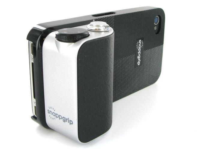 Snappgrip na smartphone s ovládáním funkcí fotoaparátu