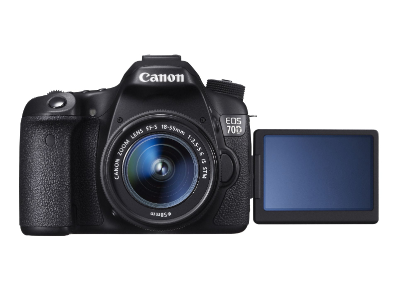 EOS 70D FRT VARI ANGLE MONITOR OPEN w EF-S 18-55mm IS STM