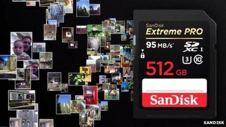 SanDisk představil největší SD paměťovou kartu na světě