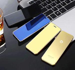 Skleněný minitelefon Geecoo vypadá jako oboustranné zrcátko