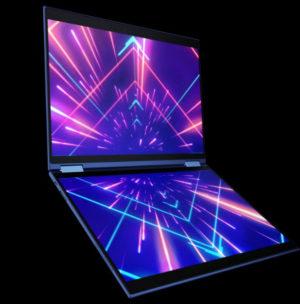 Precog – notebook s dvojitou obrazovkou a umělou inteligencí